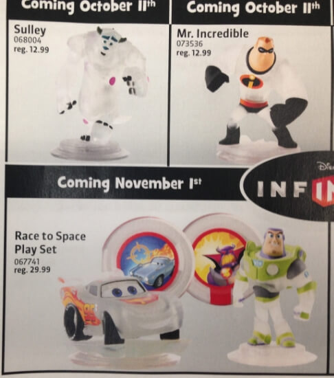 Crystal Lightning McQueen, Sully, and Mr. Incredible