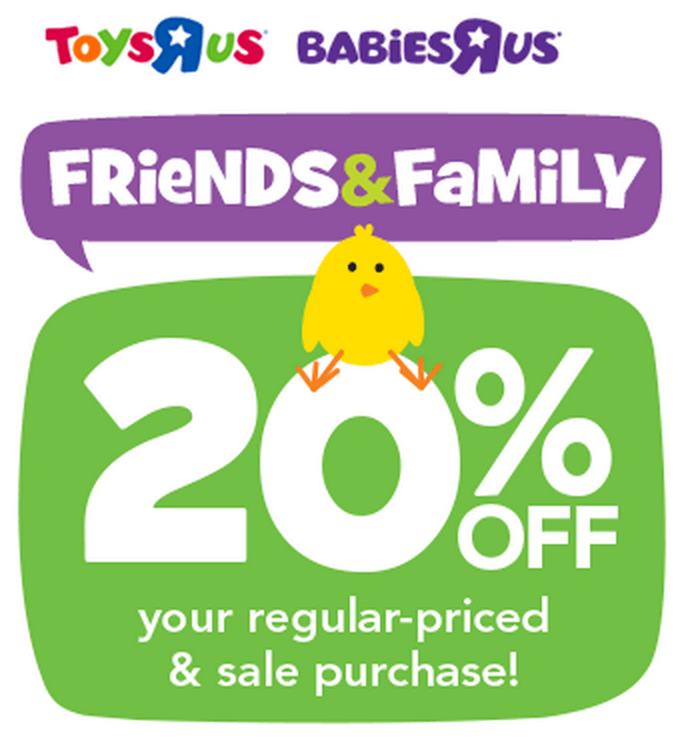 Toys R Us 20 Off : Toys quot r us off your regular priced sale purchase