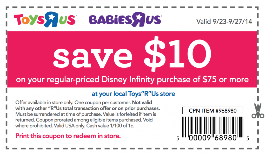 Exclusive toys r us disney infinity coupon midnight opening deals