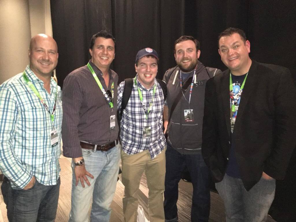 Dan Sochan, Ryan Rotthenberger, Myself, Dan from DisneyInfinityCodes, and John Vignocchi post panel